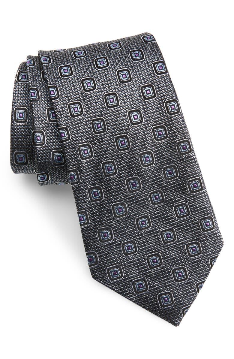 NORDSTROM MEN'S SHOP Medallion Silk Tie, Main, color, 040