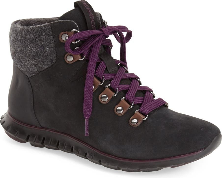 Cole Haan Womens ZeroGrand Nubuck Lace-Up Ankle Hiking Boots Shoes BHFO 4060