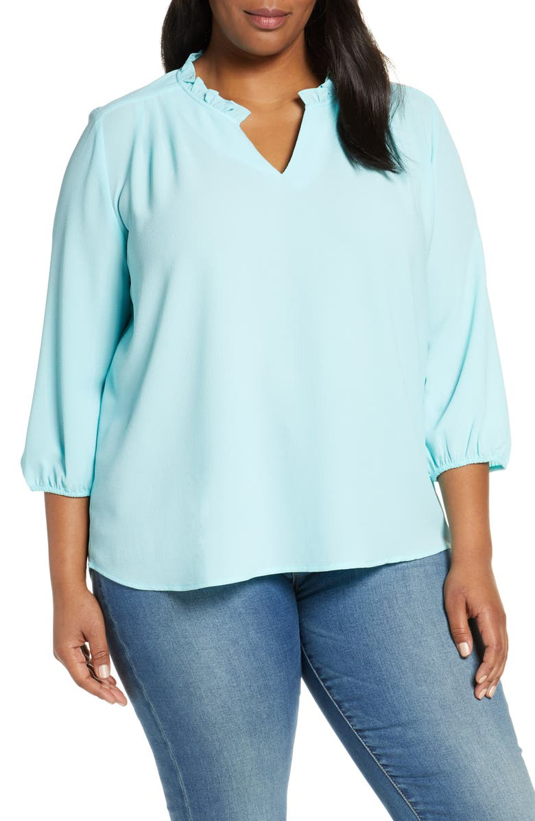 GIBSON x Living in Yellow Tulip Split Neck Top, Main, color, 400