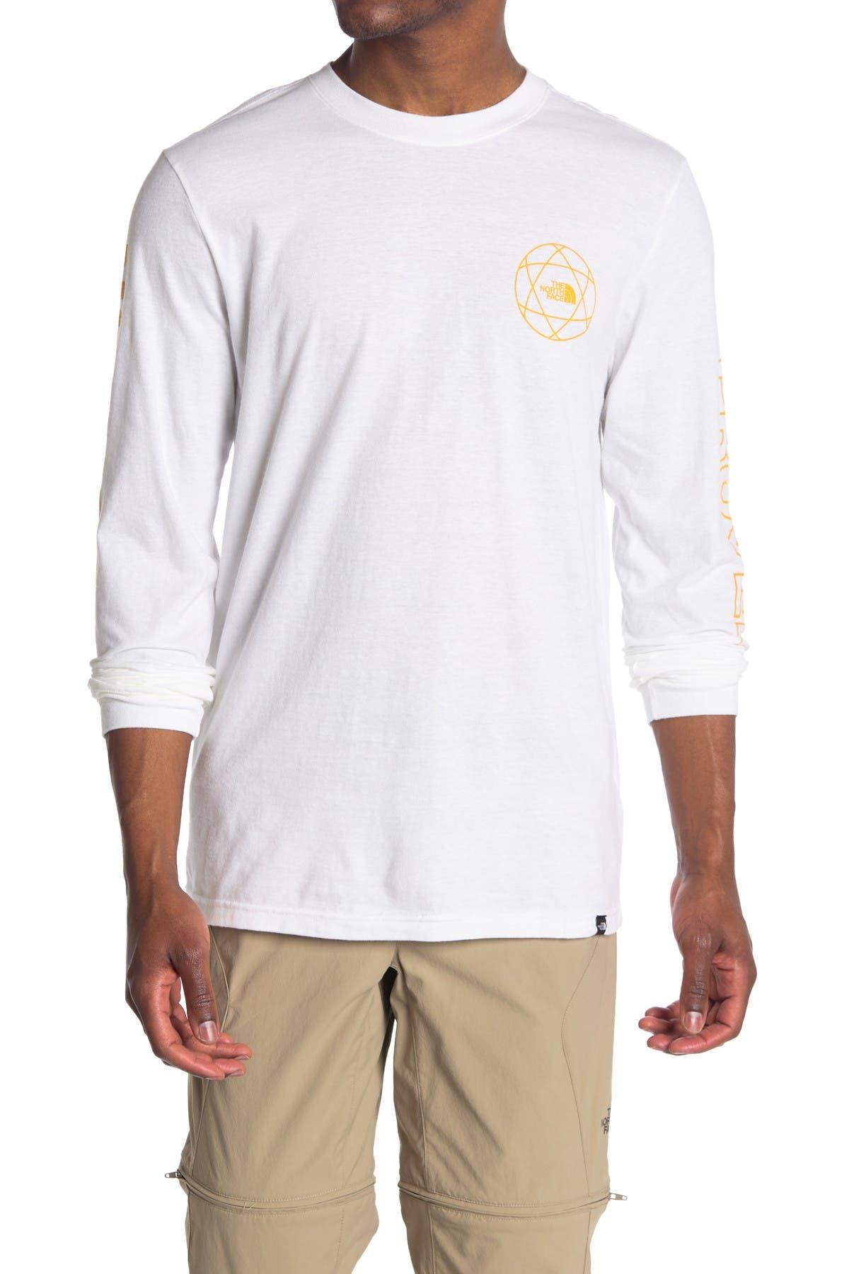 Image of The North Face Logo Print Long Sleeve T-Shirt