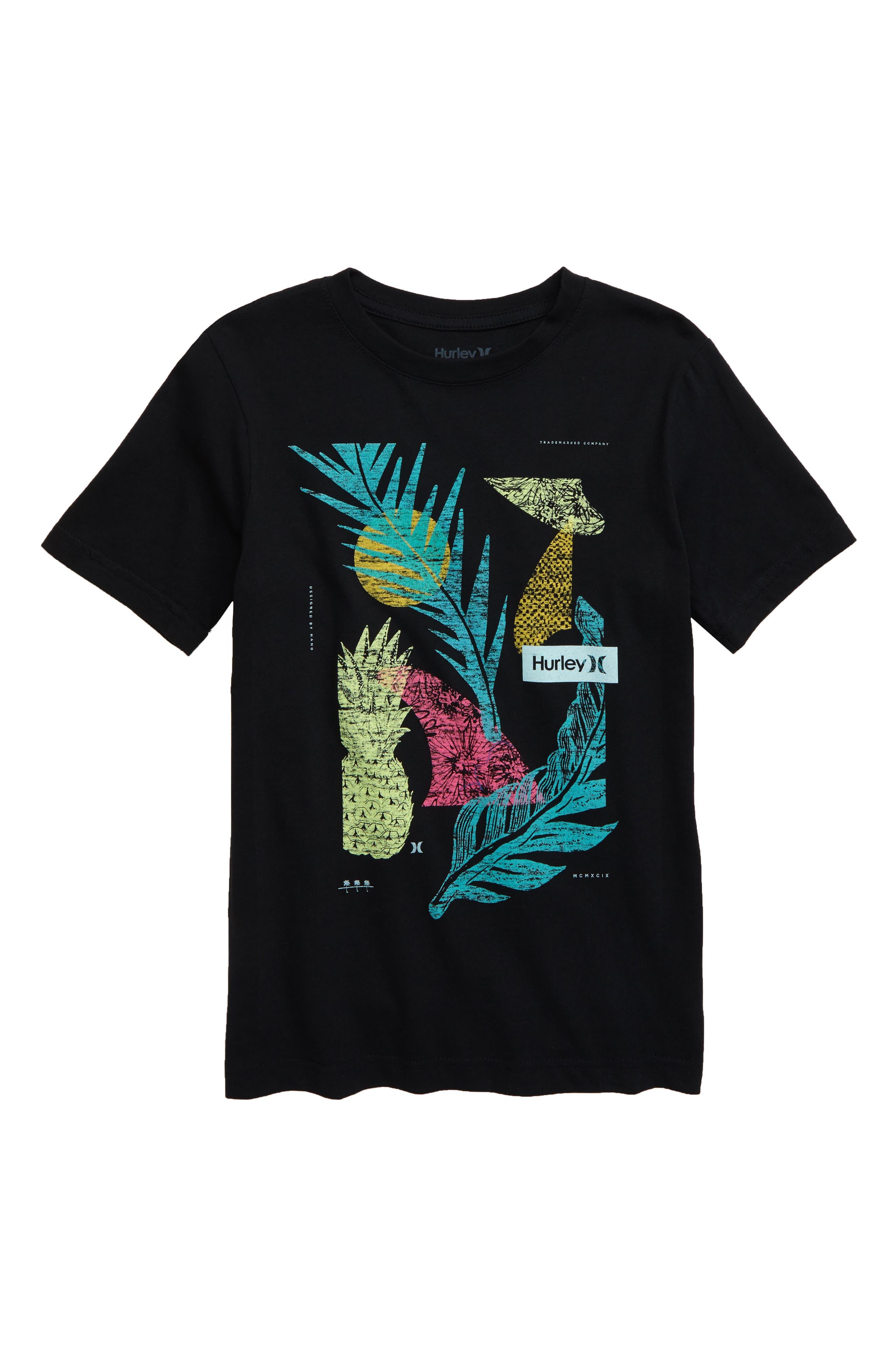 Boys Hurley Kapaleia TShirt Size M (1012)  Black