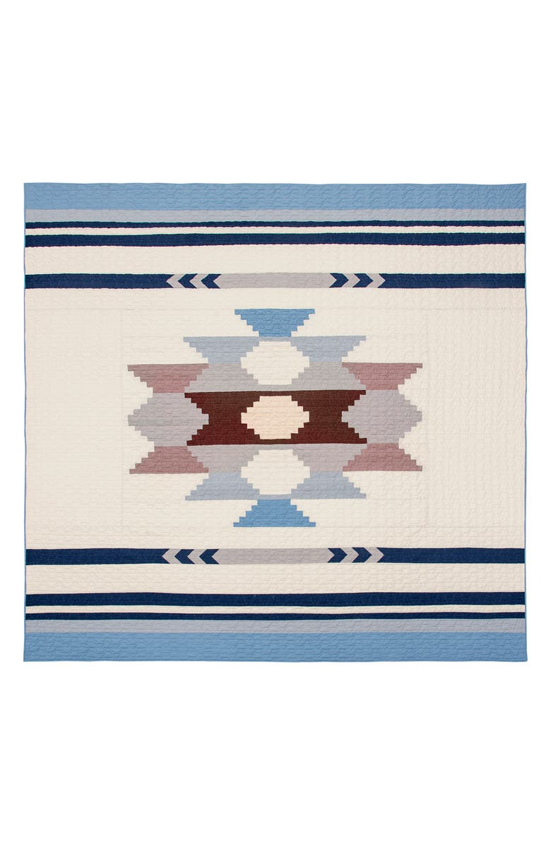 PENDLETON Diamond Ridge Quilt & Sham Set, Main, color, BLUE MULTI
