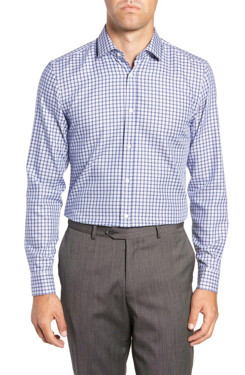 BOSS x Nordstrom Isaac Slim Fit Check Dress Shirt, Main, color, 420