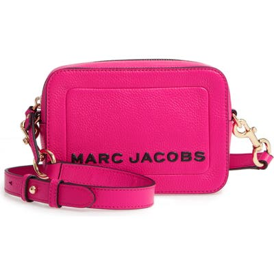 Marc Jacobs The Box Leather Crossbody Bag - Pink
