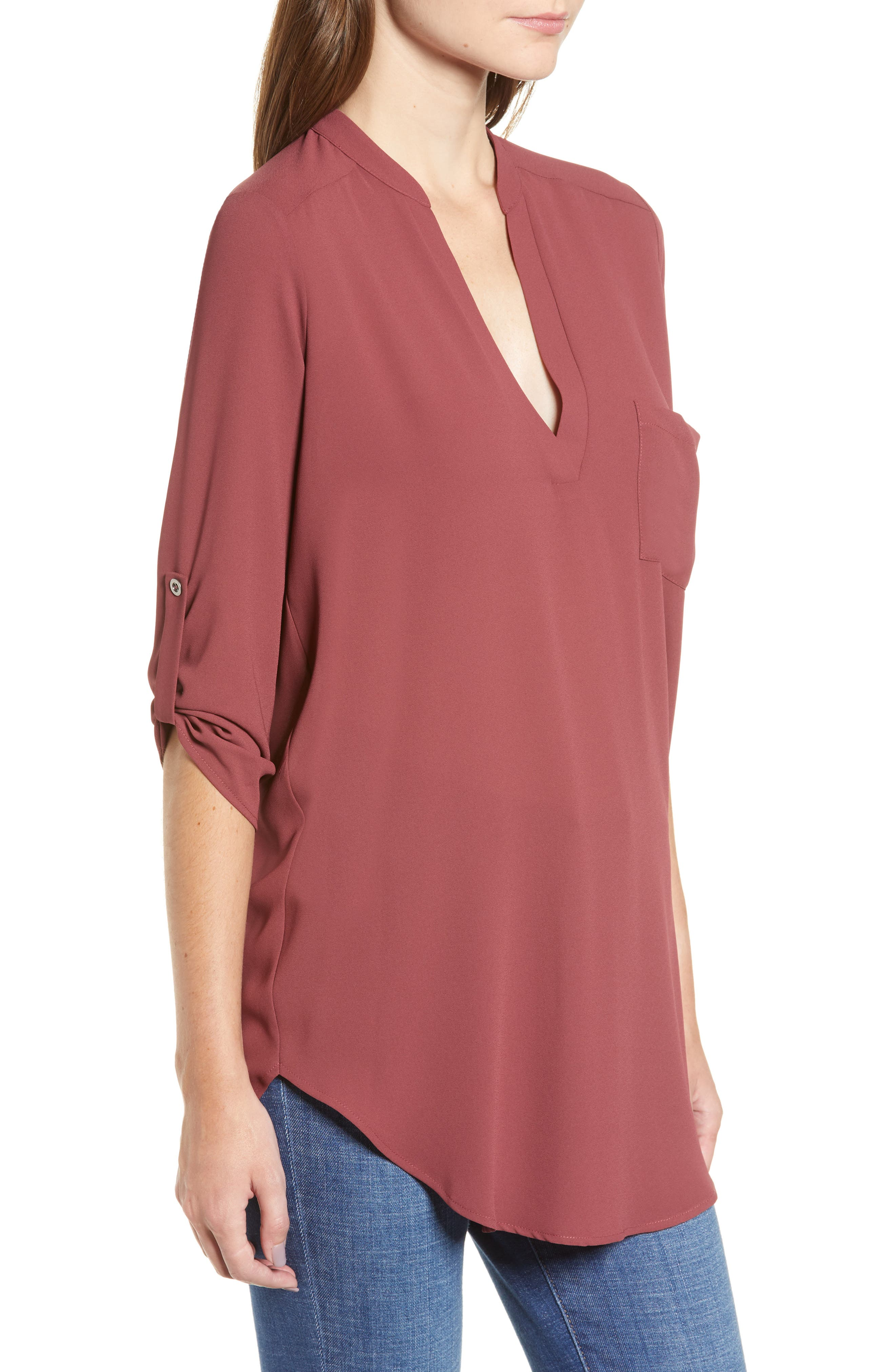 ,                             Perfect Roll Tab Sleeve Tunic,                             Alternate thumbnail 128, color,                             648