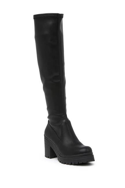 Image of Madden Girl Coretta Knee High Lug Sole Boot