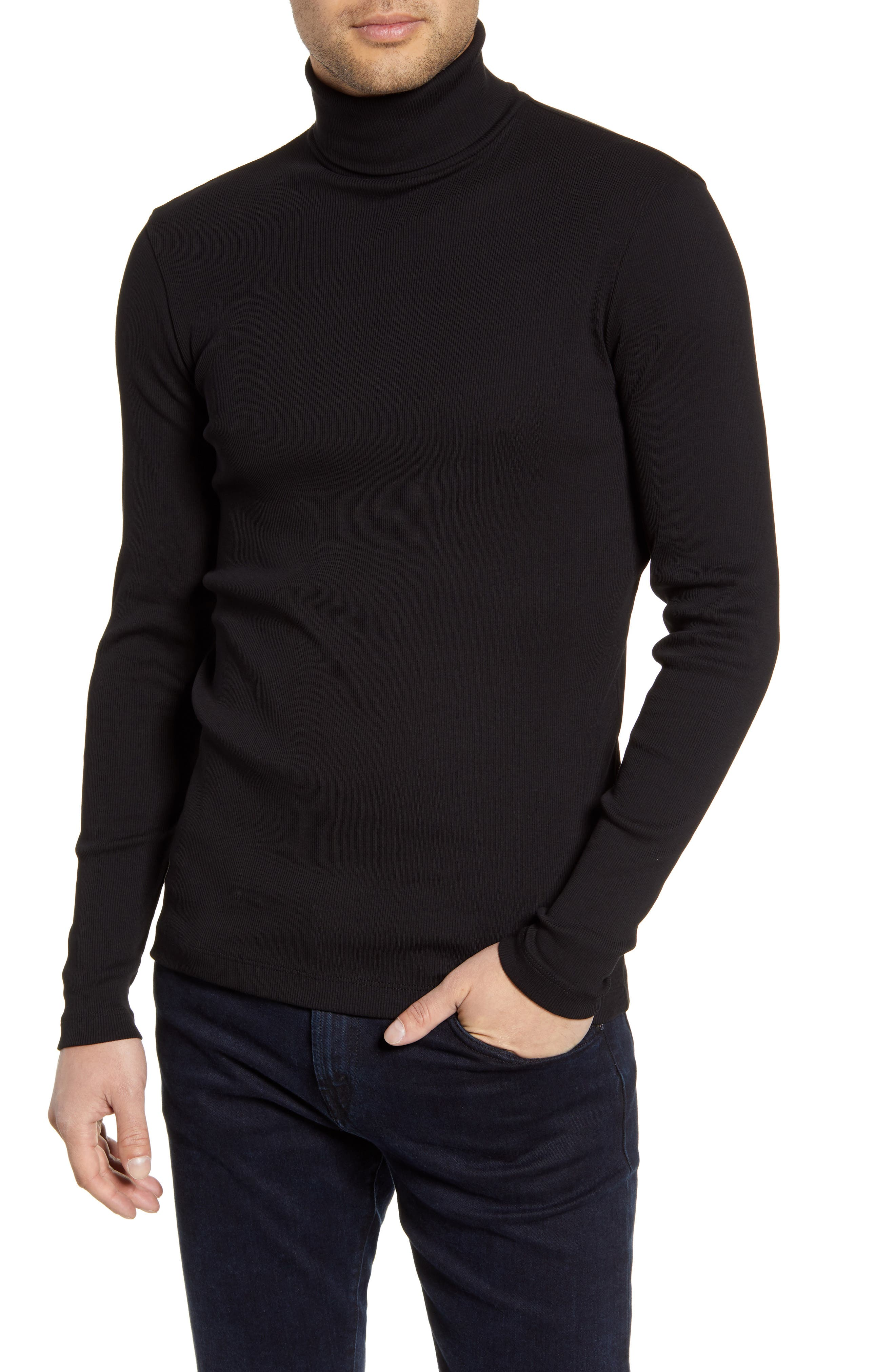 Boss Tops Tenore Cotton Turtleneck Sweater