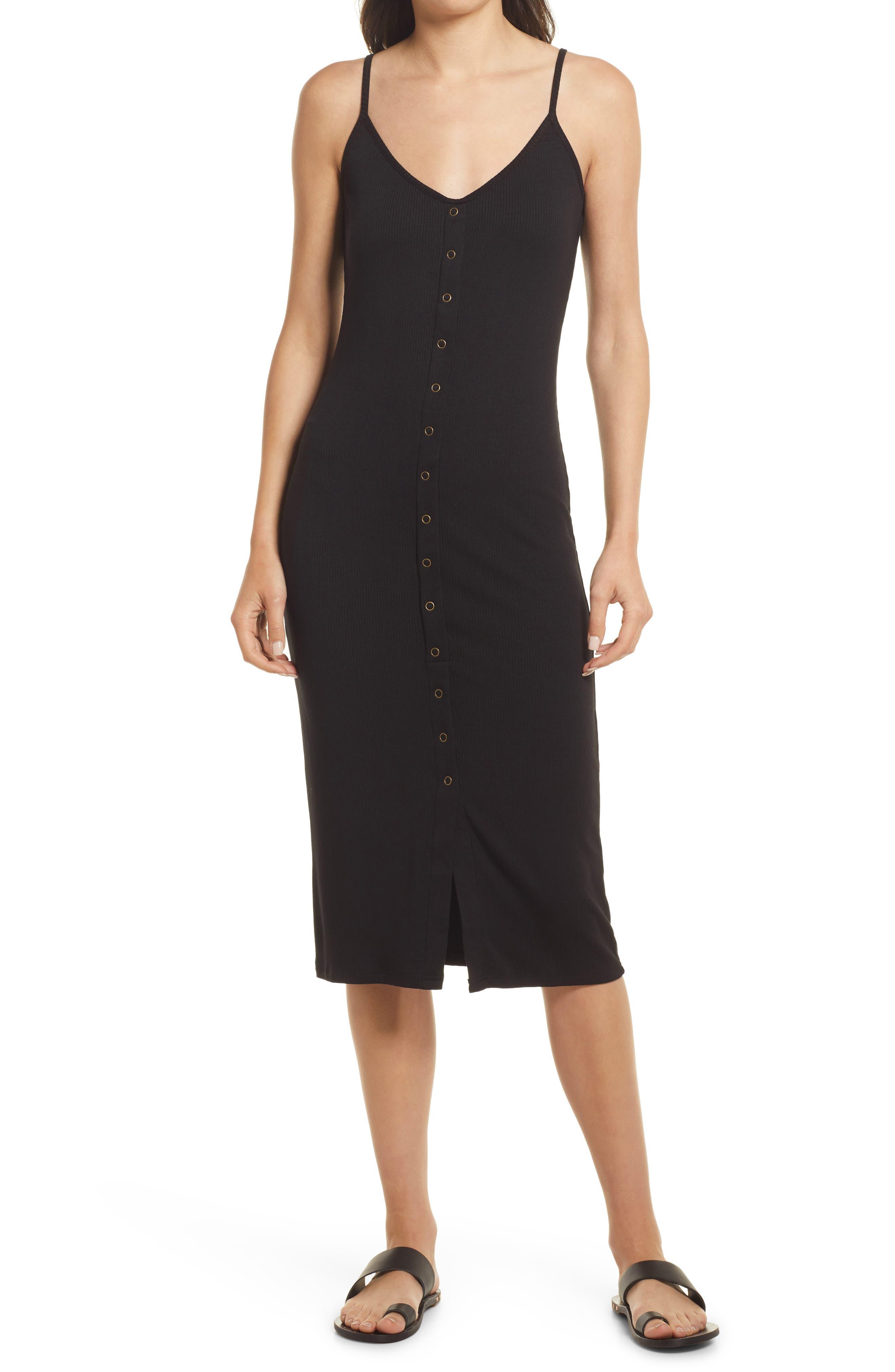 Darcey Snap Front Rib Sleeveless Dress