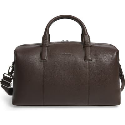 Ted Baker London Bagtron Leather Duffle Bag - Brown
