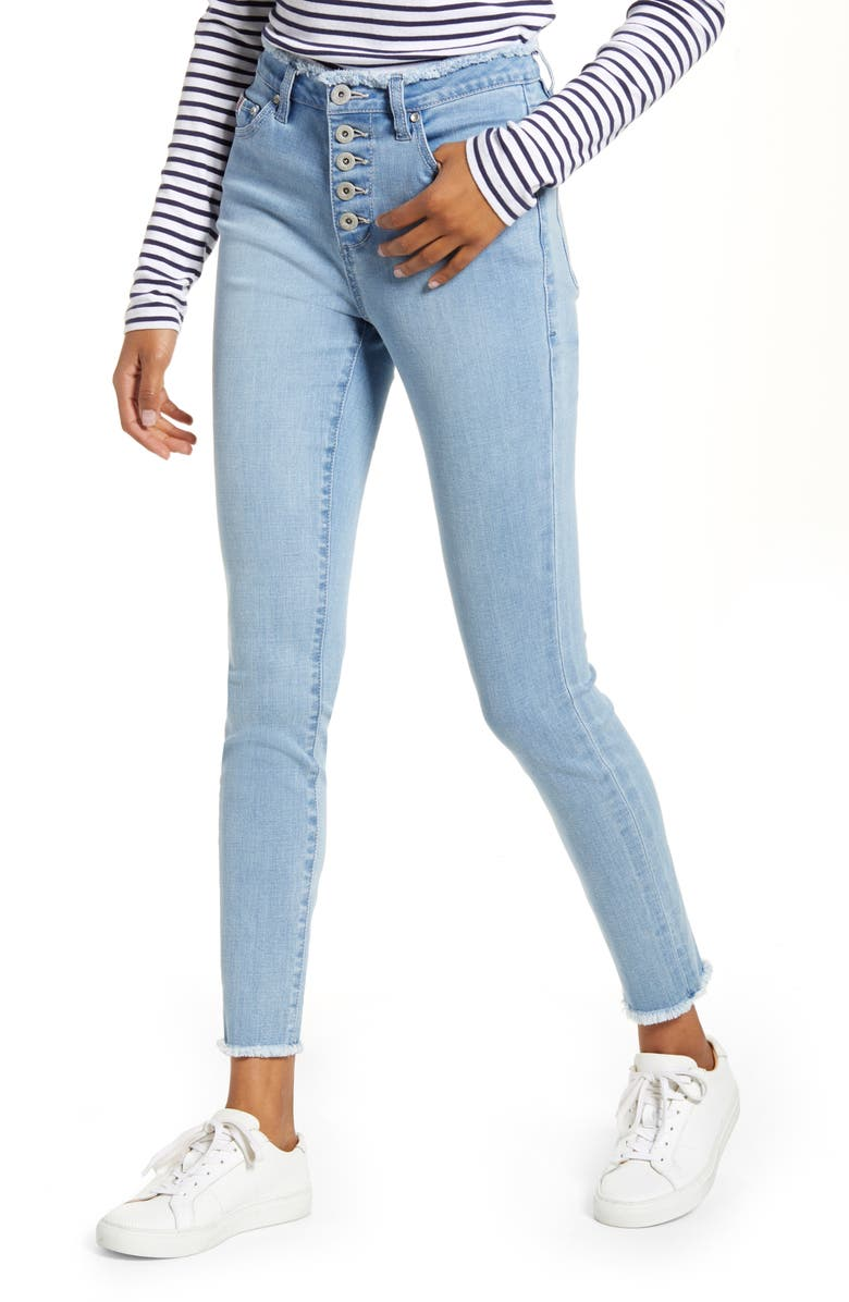 JAG JEANS Gwen High Waist Skinny Jeans, Main, color, ISLAND BLUE