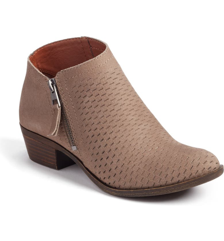 LUCKY BRAND Brielley Perforated Bootie, Main, color, BRINDLE SUEDE