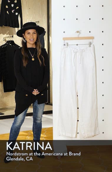 Wide Leg Linen Pants, sales video thumbnail