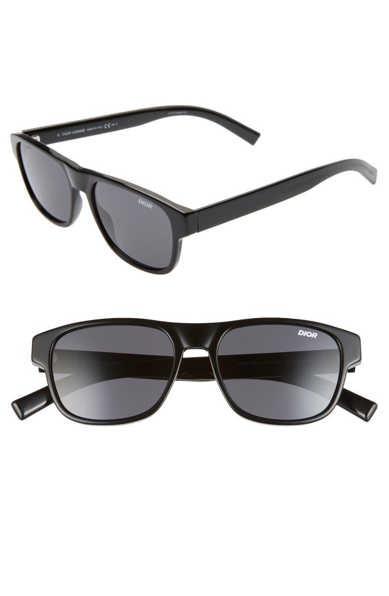 DIOR Flag 54mm Sunglasses, Main, color, BLACK/ GRAY BLUE