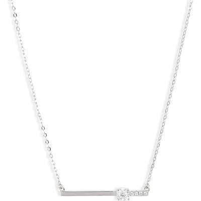 Nordstrom Crystal Bar Pendant Necklace