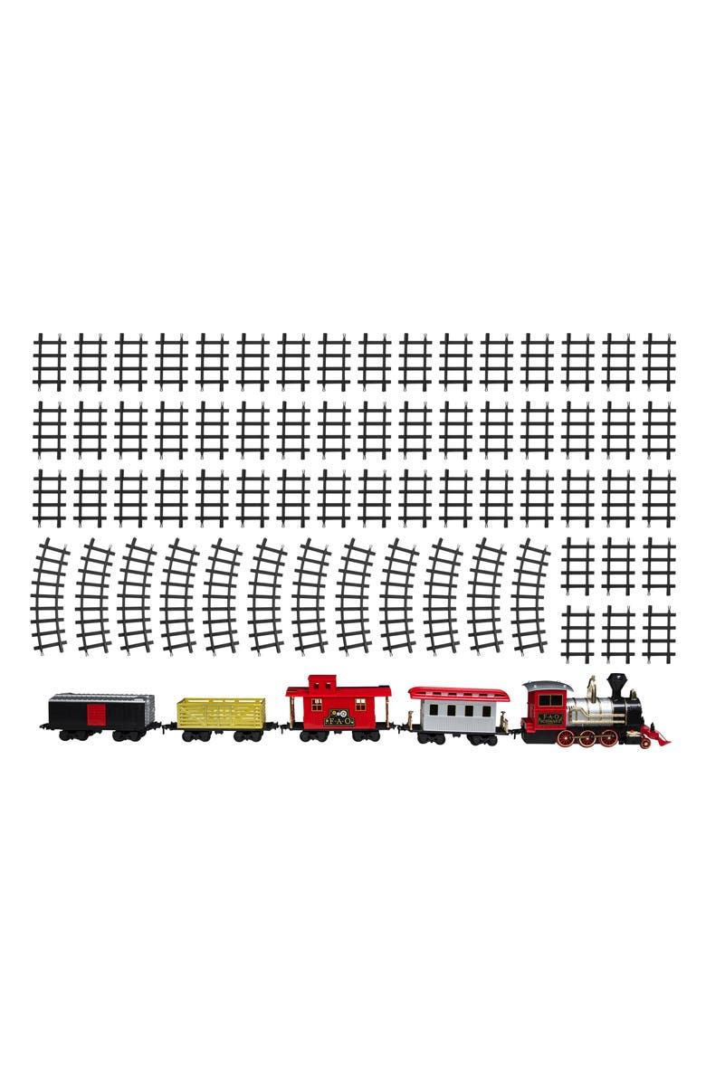 FAO SCHWARZ Motorized Train Set with Sound, Main, color, RED/ WHITE/ YELLOW