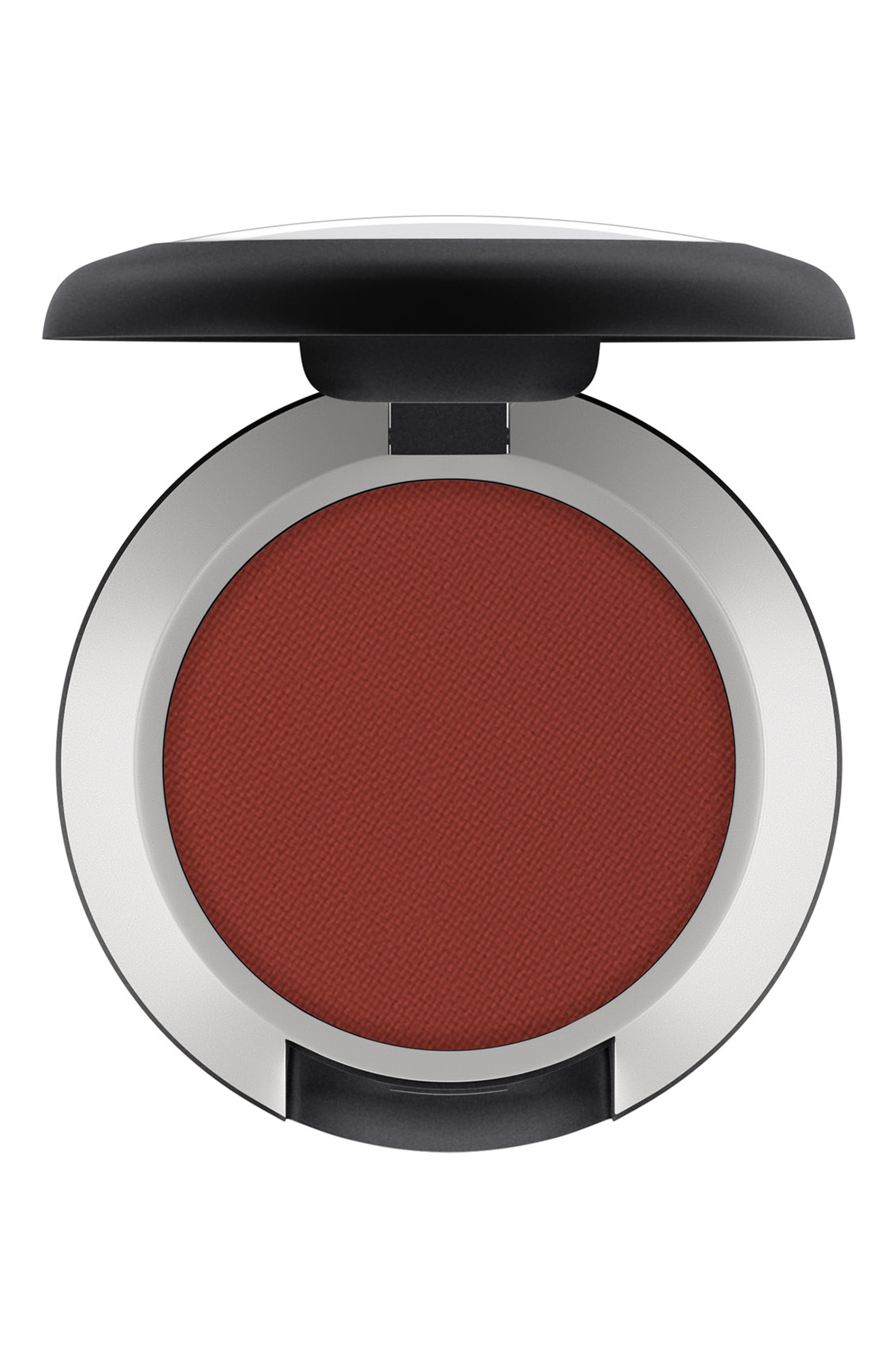 What it is: A matte-finish eyeshadow that provides rich, saturated color without shine in an even, easy-to-blend, long-lasting formula. What it does: MAC Eyeshadow is a highly pigmented pressed formula that delivers high color payoff with a single swipe. The revamped matte-finish formula is long-lasting and can be used wet or dry. Key claims and benefits: - Stay-true color- Moisture-matte formula- Nonfading, noncreasing, nondrying