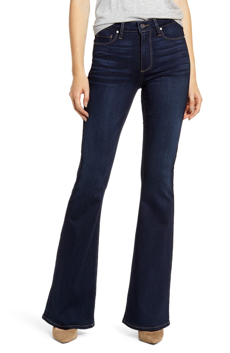 PAIGE Transcend - Bell Canyon High Waist Flare Jeans, Main, color, YORKSHIRE