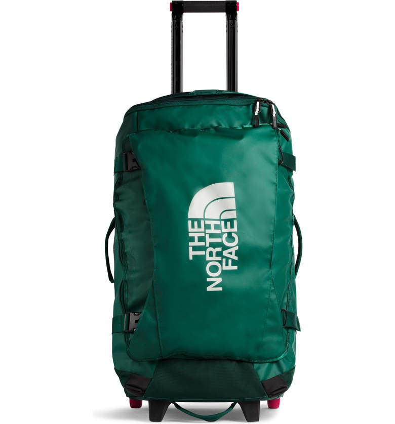THE NORTH FACE Rolling Thunder Wheeled Duffle Bag, Main, color, NIGHT GREEN/ TIN GREY