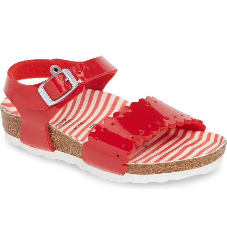 BIRKENSTOCK Risa Sandal, Main, color, NAUTICAL STRIPES RED