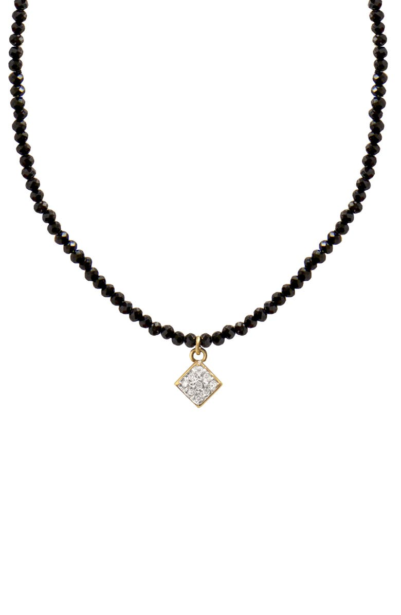 JANE BASCH DESIGNS Jane Basch Diamond Charm Pendant Necklace, Main, color, BLACK ONYX