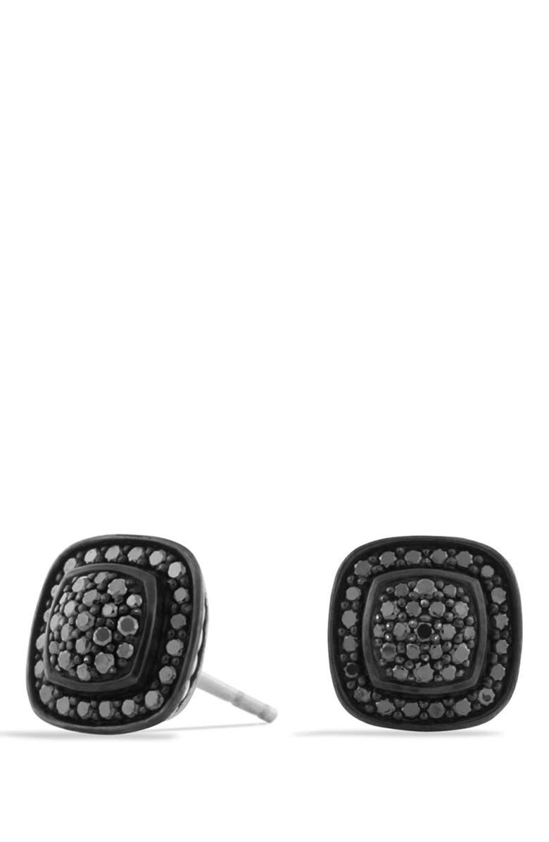 DAVID YURMAN 'Albion' Petite Earrings with Black Diamonds, Main, color, BLACK DIAMOND