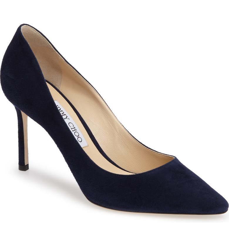 JIMMY CHOO Romy Pump, Main, color, NAVY SUEDE