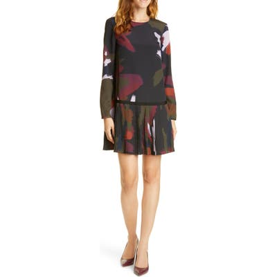 Ted Baker London Rosarn Sapphire Long Sleeve Dress, (fits like 8-10 US) - Black
