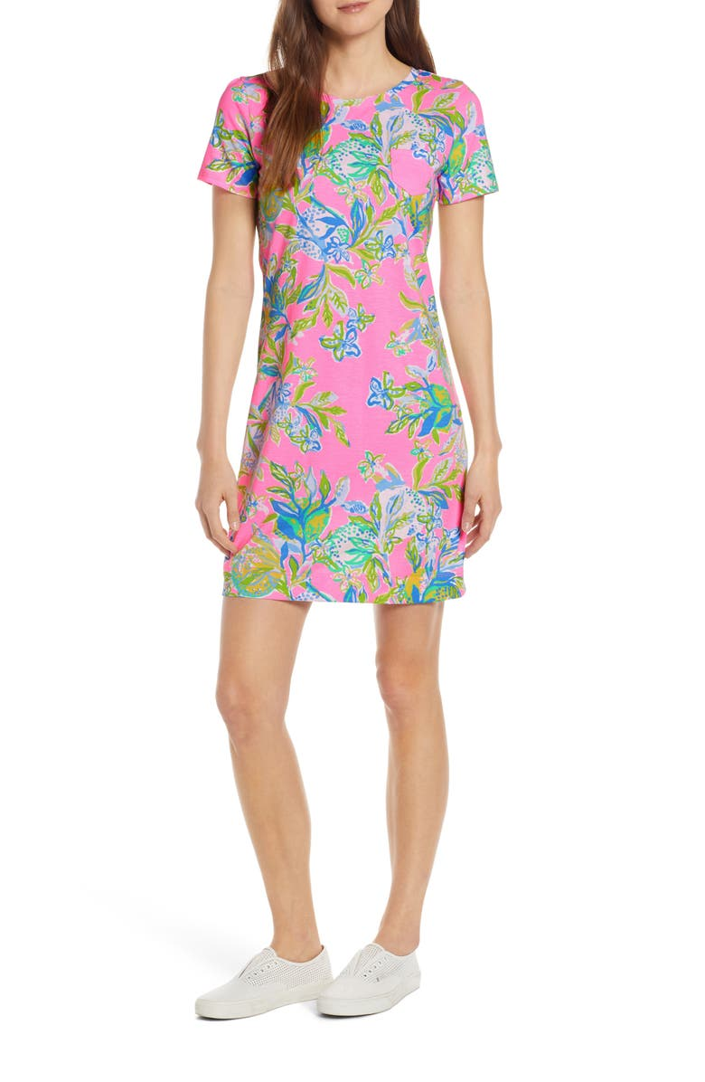 LILLY PULITZER<SUP>®</SUP> Declan Floral Print T-Shirt Dress, Main, color, 662