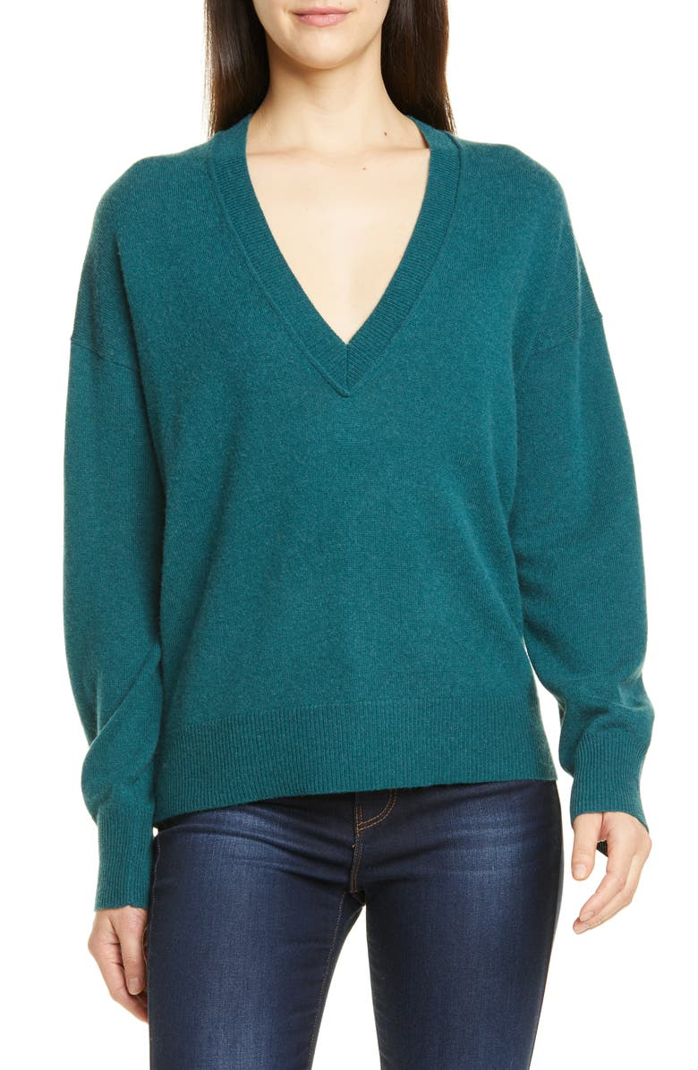 EQUIPMENT Azia Wool & Cashmere Sweater, Main, color, ATLANTIC DEEP