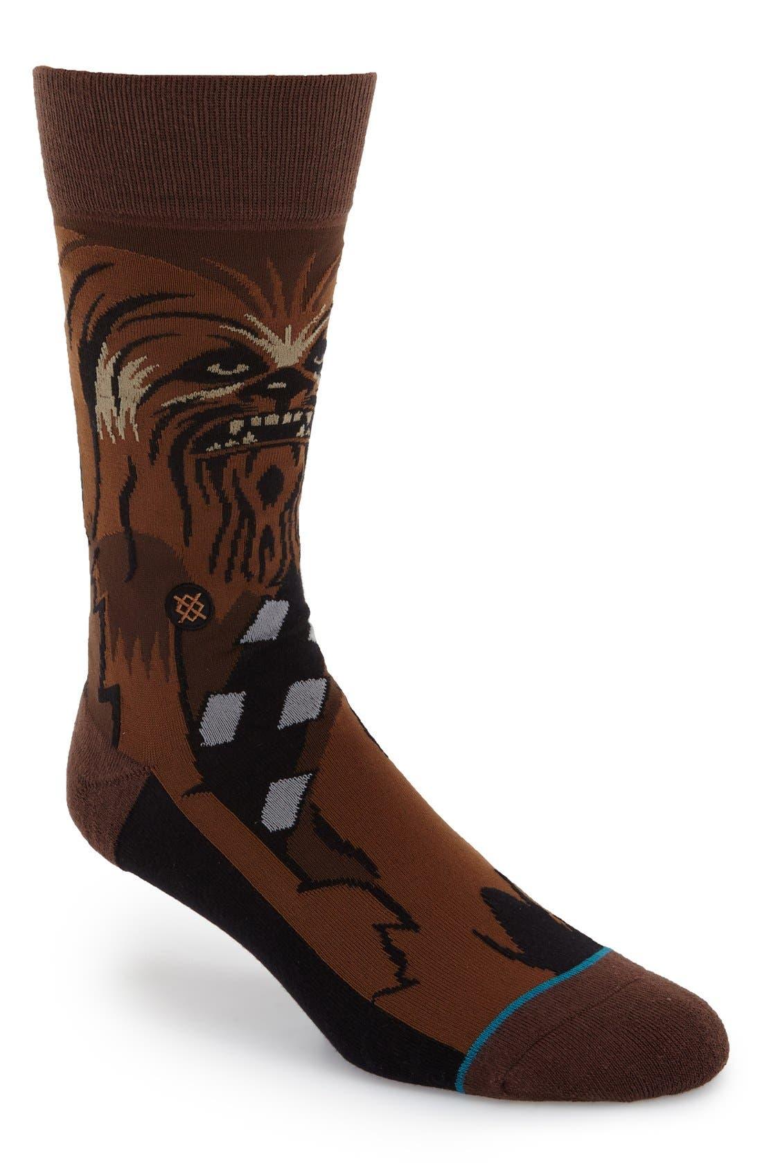 Stance Socks Warped Chewbacca Chewie Stormtrooper Star Wars Men's Medium 6-8.5