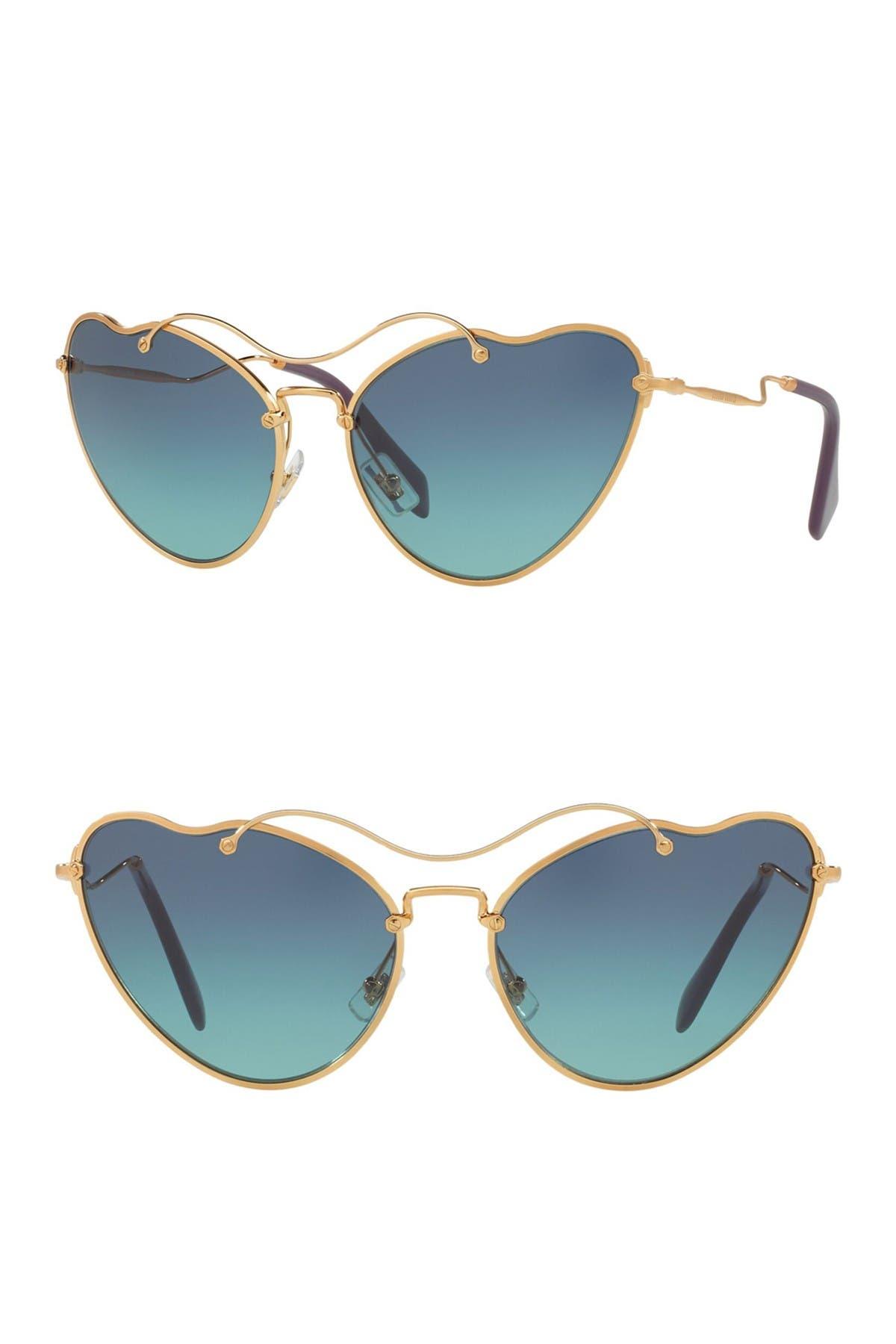 Image of MIU MIU 65mm Irregular Butterfly Sunglasses