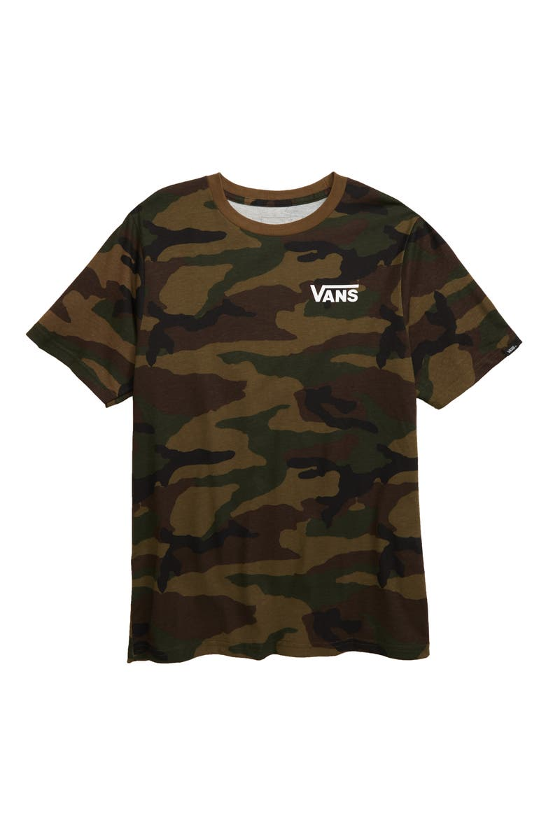 VANS Off the Wall Graphic T-Shirt, Main, color, CAMO/ WHITE