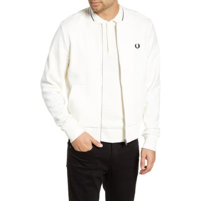 Fred Perry Fleece Track Jacket, Ivory