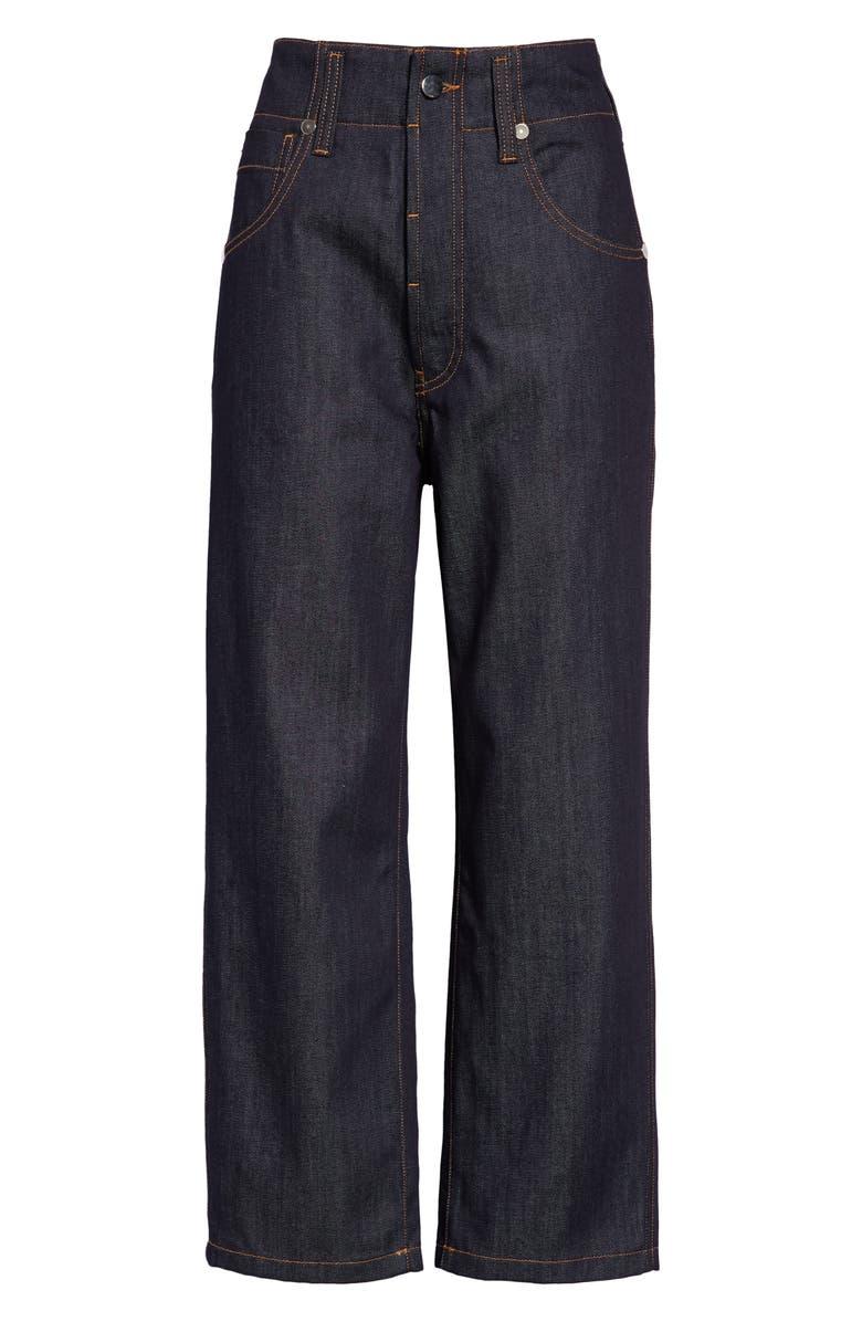SOFIE D'HOORE Straight Leg Raw Denim Crop Jeans, Main, color, 400