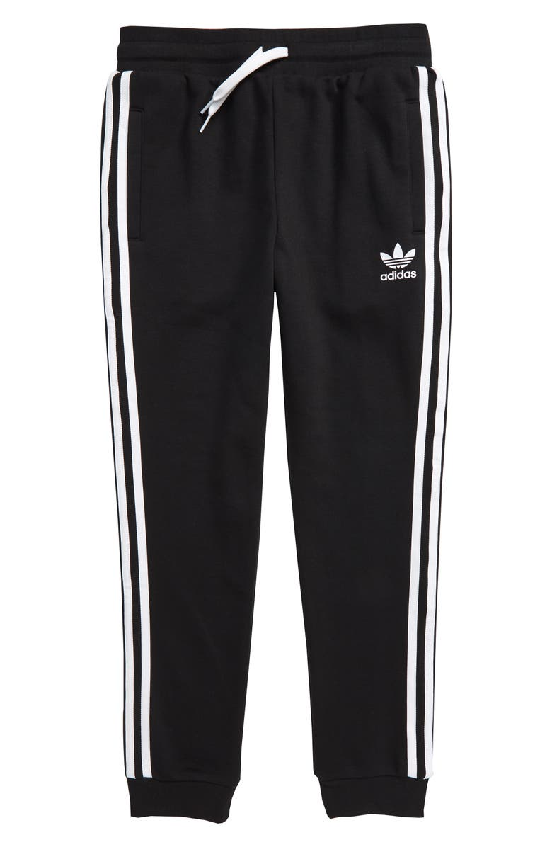 ADIDAS ORIGINALS Trefoil Track Pants, Main, color, BLACK/ WHITE