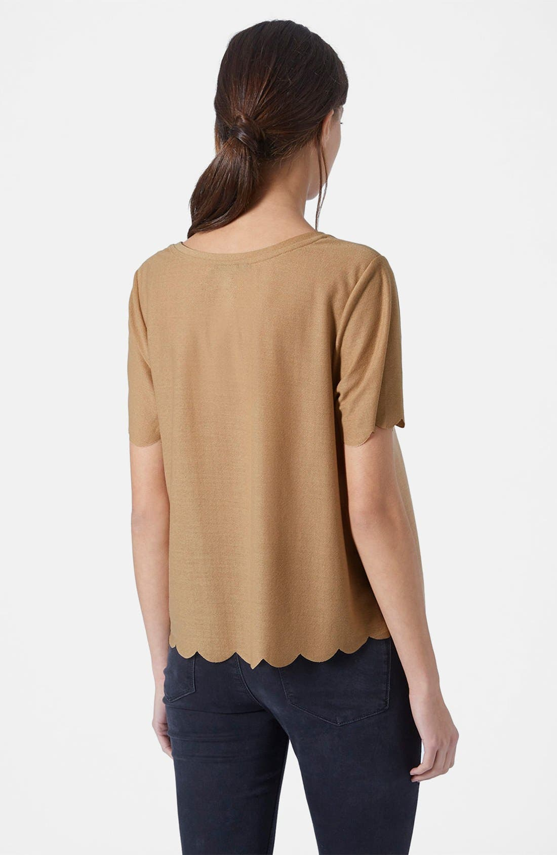 ,                             Scallop Frill Tee,                             Alternate thumbnail 13, color,                             252
