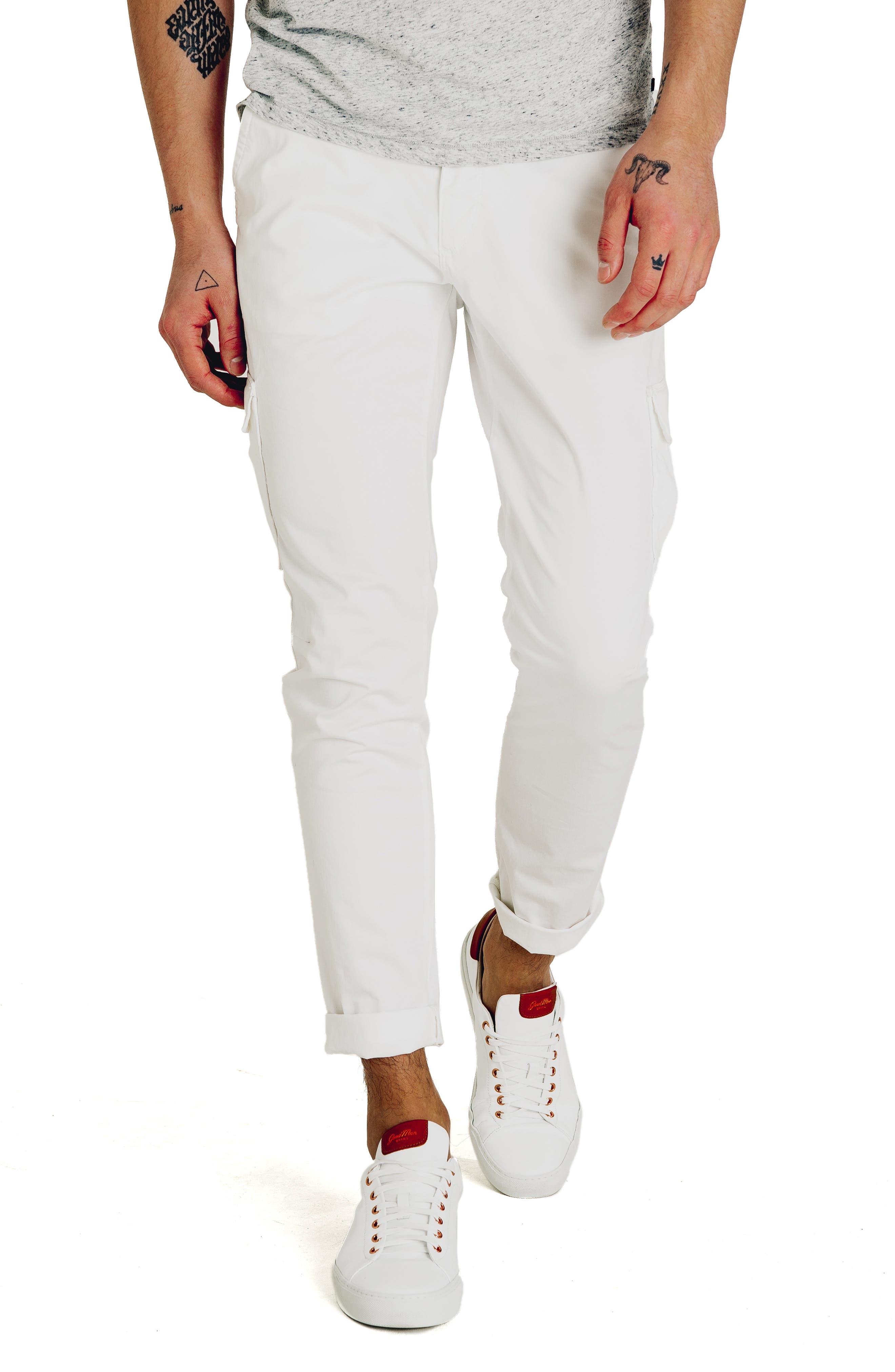 Good Man Brand Jackknife Slim Fit Cargo Pants, White