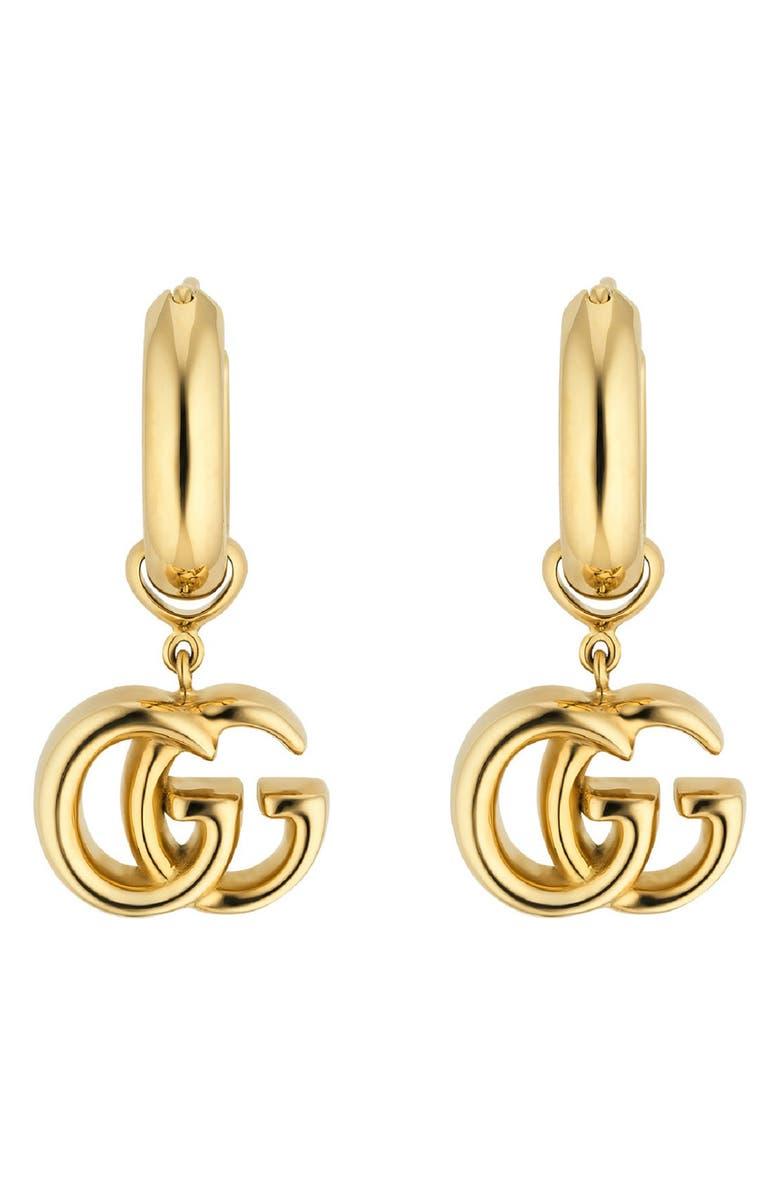 GUCCI Running Drop Earrings, Main, color, YELLOW GOLD