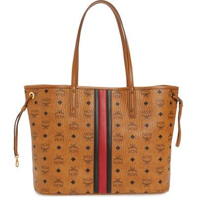 Mcm Medium Reversible Shopper & Pouch - Brown (Nordstrom Exclusive)