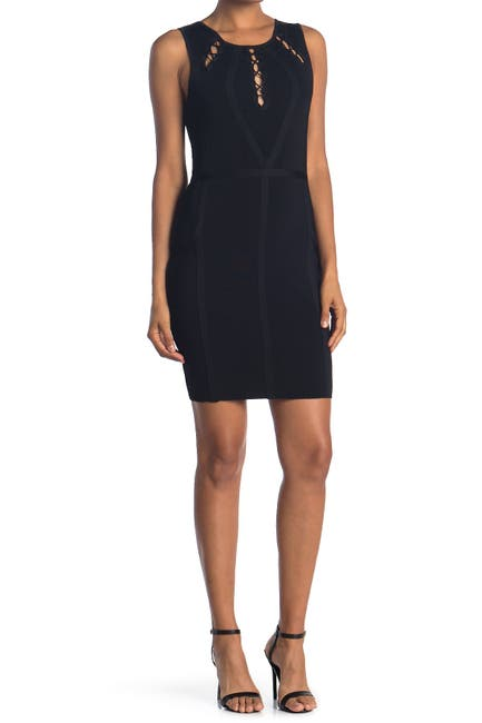 Image of GUESS Bandage Dress With Upper Detailing
