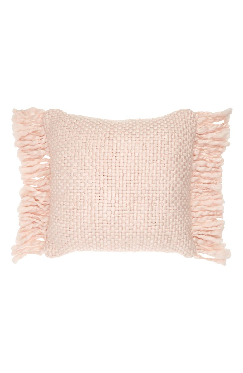 RACHEL PARCELL Chunky Woven Fringe Decorative Pillow, Main, color, PINK WISP