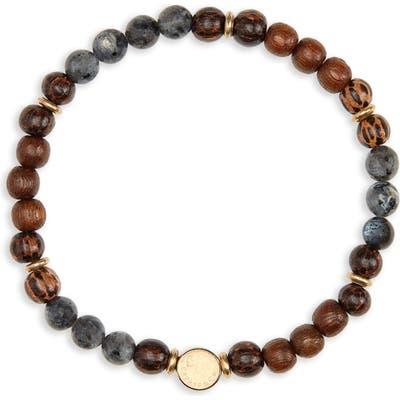 Caputo & Co. Stone & Wood Bead Bracelet