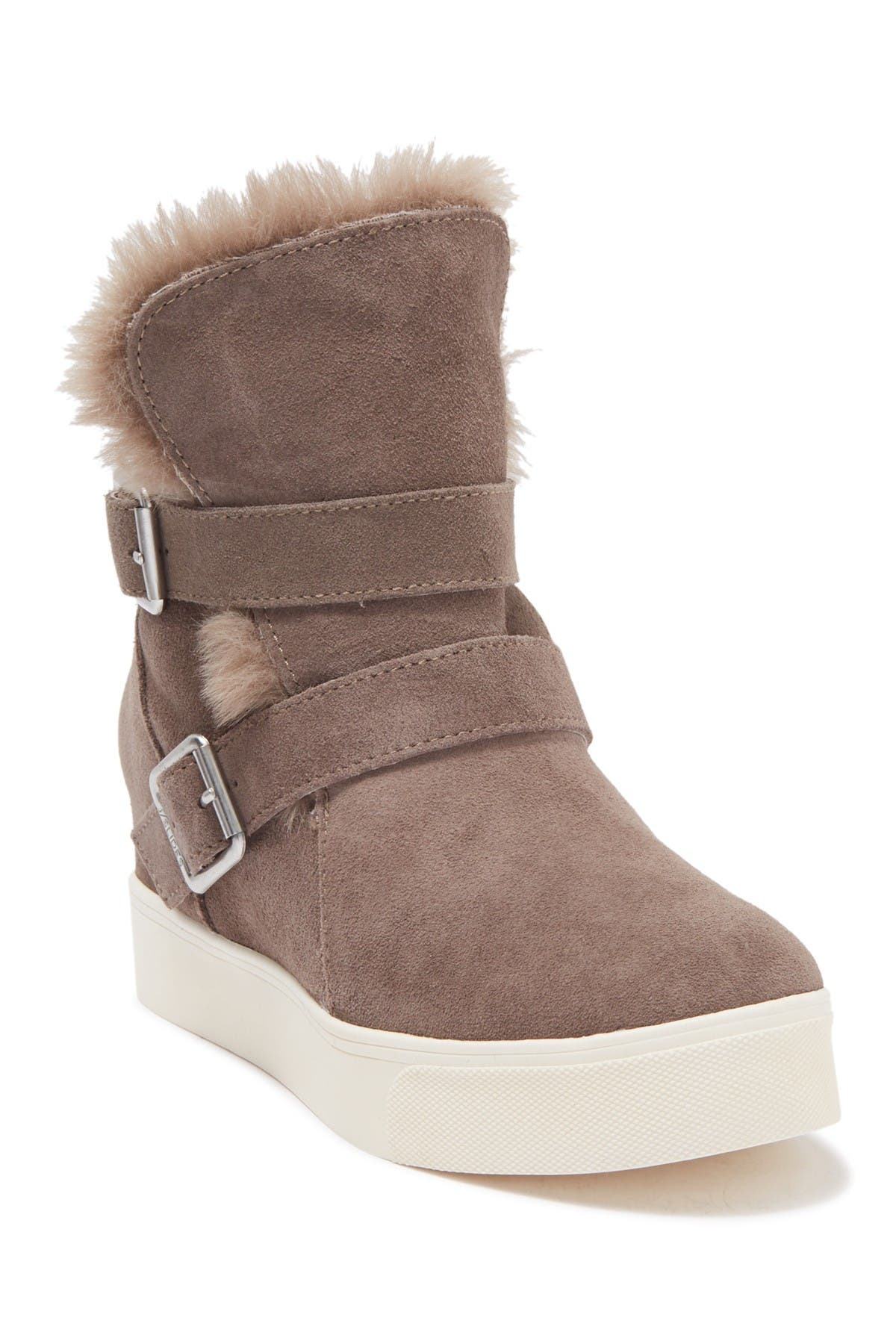 Image of J/Slides Wells Faux Fur Trim High Top Sneaker