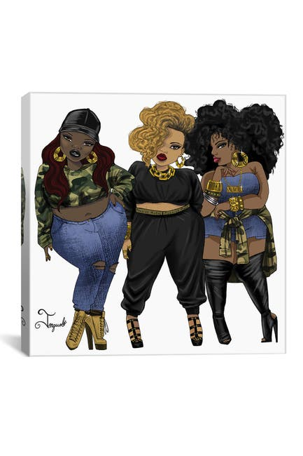Image of iCanvas Girl Gang 2 by Jonquel Art