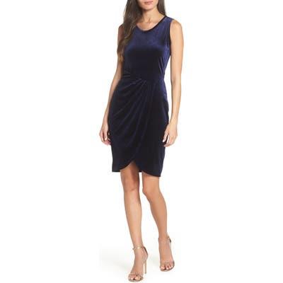 Fraiche By J Velvet Tulip Dress, Blue