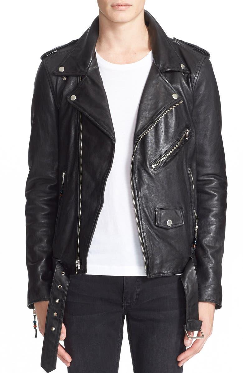 BLK DNM 'Leather Jacket 5' Leather Moto Jacket, Main, color, 001