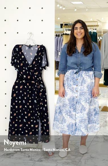 Roseau Meadow Floral Wrap Front Dress, sales video thumbnail