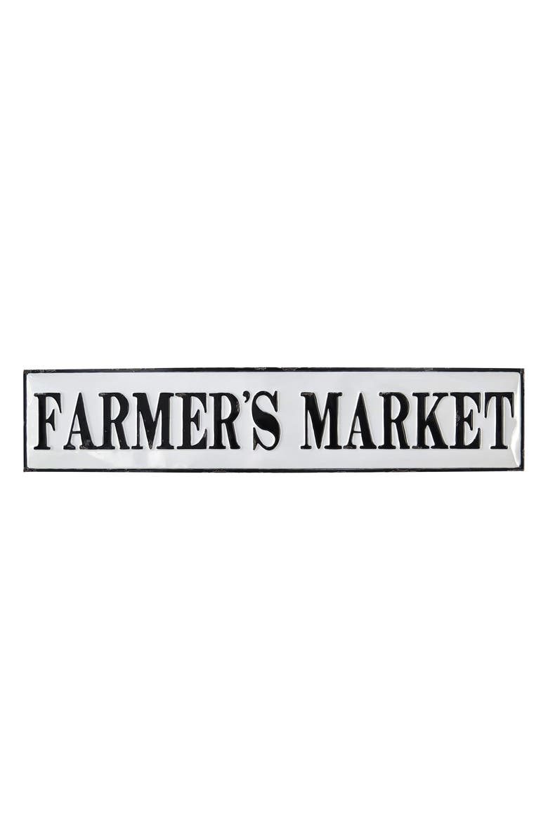FORESIDE Farmer's Market Wall Plaque, Main, color, METAL