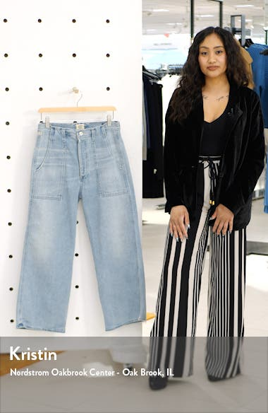 Eva Utility Crop Wide Leg Jeans, sales video thumbnail