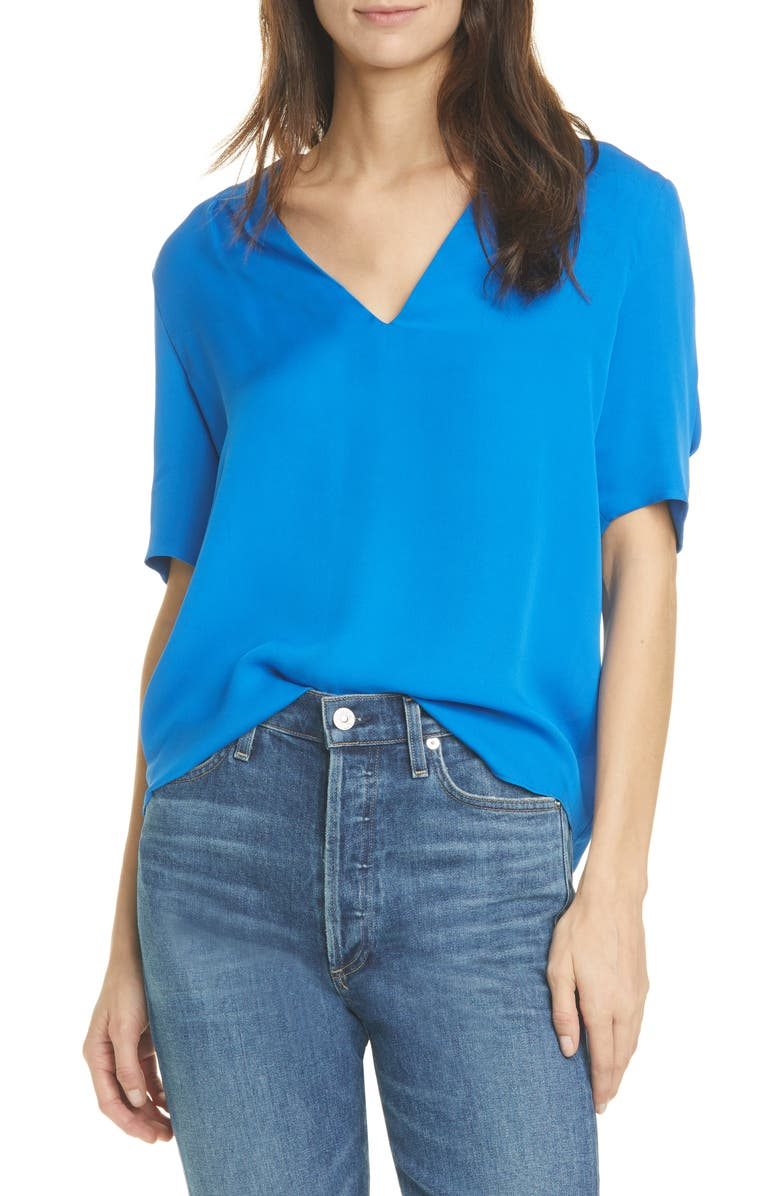 JOIE Ance Silk Blouse, Main, color, 430
